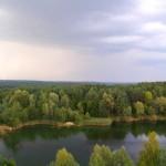 Widok z wieży przy Gliniankach